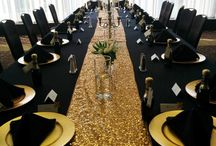 Table decorations gold feature