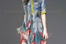 платья шелк