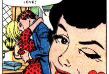 vintage comic / i missed you, satan.