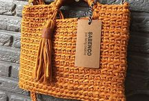 crochet leather bags