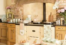 Rustic Kitchens / Rustic, vintage, shabby chic... love kitchens that have the live in, worn out yet warm look..homely...with a fire place then even better!