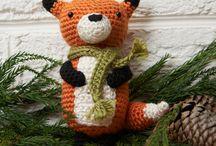 Create: Crochet Animals: Woodland / Foxes, Raccoons, Deer, Bears, Moose, Wolves, Badgers, Squirrels, Chipmunks. Groundhogs, Skunks / by Kaitlyn L