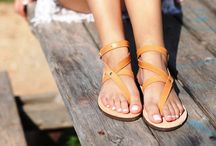 "Leather Handmade Sandals ""Milos"" col. Natural"