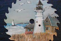 fűrészlap festmények