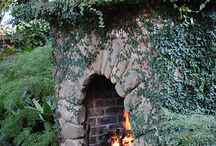Fireplace in garden