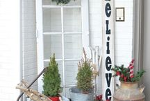 Christmas Porch and Planters