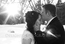 Winter Wonderland Weddings / www.Delightphotography.com