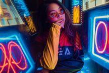 neon style art