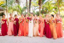 Tropical color tone dresses