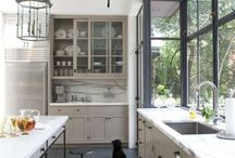gray/green cabinets