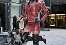Leather Skirts & Dresses