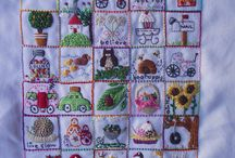 Embroidery blankets