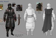 NPC Design / Oyun içerisinde bulunan oyuncu olmayan karakterlerin çizimleri ve tasarımları