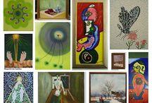 Painting Acryl Schilderijen  Sija van Riel. Pictoricht. / Acrylverf Schilderijen ,fantasie. https://sites.google.com/site/syavanriel/