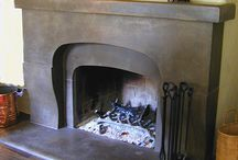 Indoor Fireplaces Created With Davis Colors Concrete Pigments
