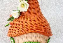 плетение трубочек домики
