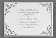 Silvers / The ultimate wedding color. Let your love shine with these gorgeous silver invitations from Persnickety Invitation Studio.