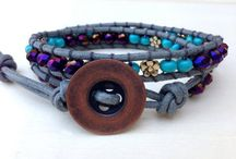 Wrap bracelets / A range of crochet and cord wrap bracelets