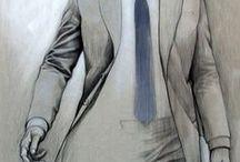 Design sketches for men / Designer view for men clothing