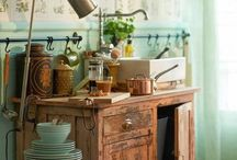 Colorful Kitchens with character