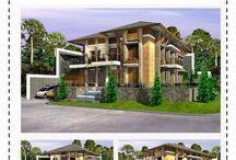 Design Gambar 3D Gaya Bali Modern