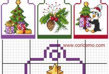 punto de Cruz navideña