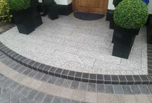 Drivesys Split Stone Driveway in Whitefield / New driveway construction using Marshalls Drivesys Split Stone paving