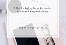 Photo Styling For Business Owners / Photo styling ideas for online, creative, service-based business owners