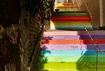 Escadarias Criativas / As mais belas e criativas artes em escadarias pelo mundo.