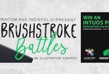 Brushstroke Battles: online illustration contest
