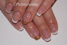 2014 GÉL LAKK / Gél Lakk,díszítve, akril és hagyományos körömlakkal, Crystal nails alapanyagokkal