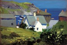 Monhegan Paintings / Paintings and drawings I have found of my favorite place, Monhegan Island, ME.