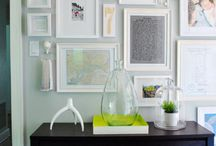 Gallery Walls / Different takes on gallery walls - lots of frames, or lots of objects or a mix of both. Inspiration!
