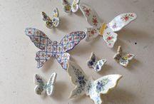 BUTTERFLIES / Farfalle in ceramica 3D Butterflies ceramic 3D