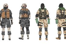 Character design - military males