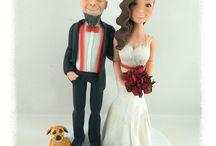 wedding cake topper sposi / Wedding cake topper realizzati a mano con porcellana fredda da Tonia Sarcinella decoratrice di Taranto contattami per info e costi anche sul mio profilo Facebook