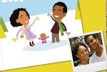 Geïllustreerde geboortekaartjes - Illustrated birth announcements / Een selectie van achtergronden voor maatwerk geboortekaartjes!  A selection of backgrounds for custom made birth announcements