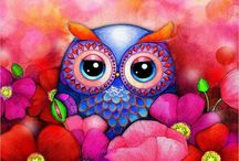 Owls / Owls are generally associated with wisdom. However, for many they depict beauty, too.  / by Kimberly Hamner