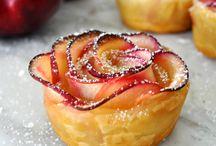 bouquet roses tarte pommes