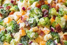 Salades brocoli chou fleurs