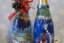 botellas decoradas Navidad