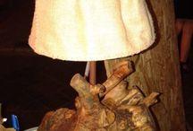 Lumi e lampadari in legno d'arte / complementi d'arredo