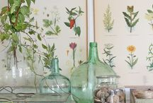 Botanical Style / Casual decor mixed with botanical prints.