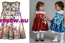 Выкройки детских платьев