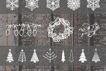 Litery pismo ornamenty