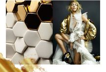gold & white look