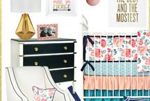 Coral and Navy Nursery Insperation / Coral and Navy baby nurseries are trending and just all around amazing. Caden Lane has gorgeous bedding and great ideas to help you create an amazing coral and navy nursery.