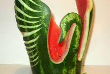 Fruits sculpté