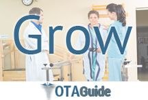 OTA Career Development / Grow in your occupational therapy career as an OT or an OTA using our OT and OTA growth and career development pins.