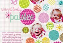 scrapbooking- baby girl